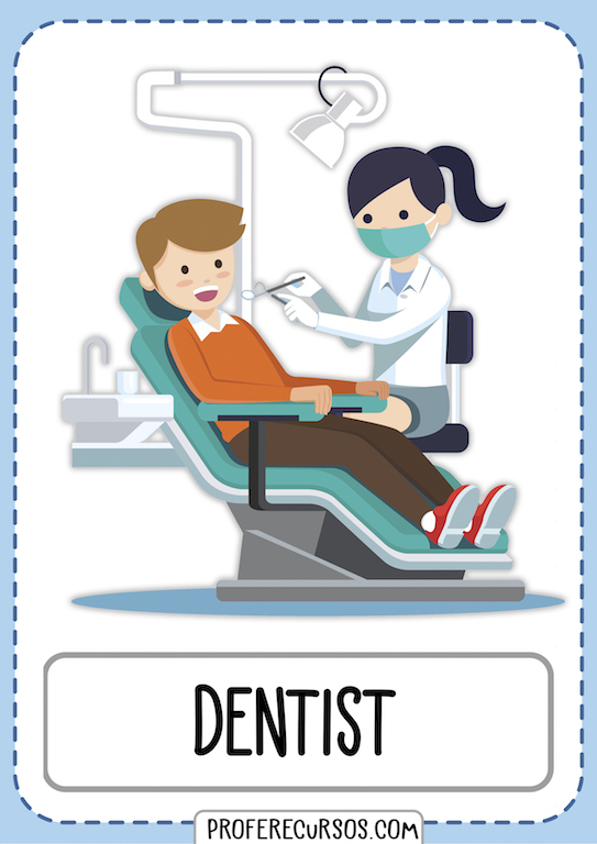 Professions Jobs Vocabulary Dentist