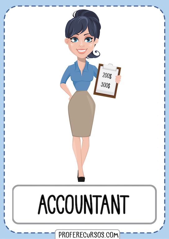 Professions Jobs Vocabulary Flashcards Accountant