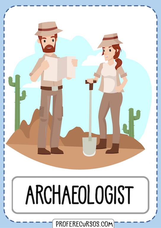 Professions Jobs Vocabulary Flashcards Archaeologist