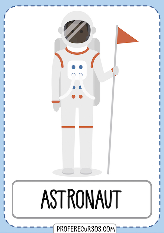 Professions Vocabulary Flashcards Astronaut