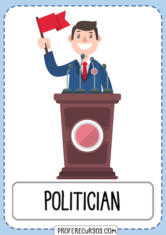Professions Vocabulary Flashcards Politician