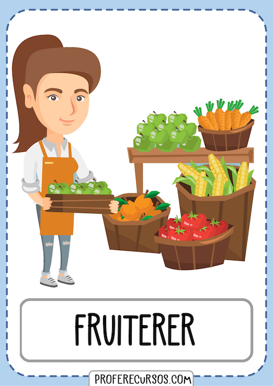 Professions Vocabulary Fruiterer