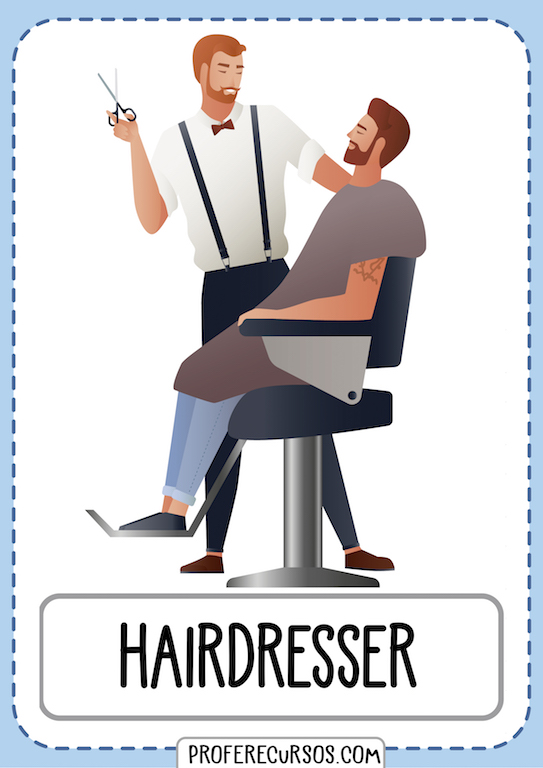Professions Vocabulary Hairdresser