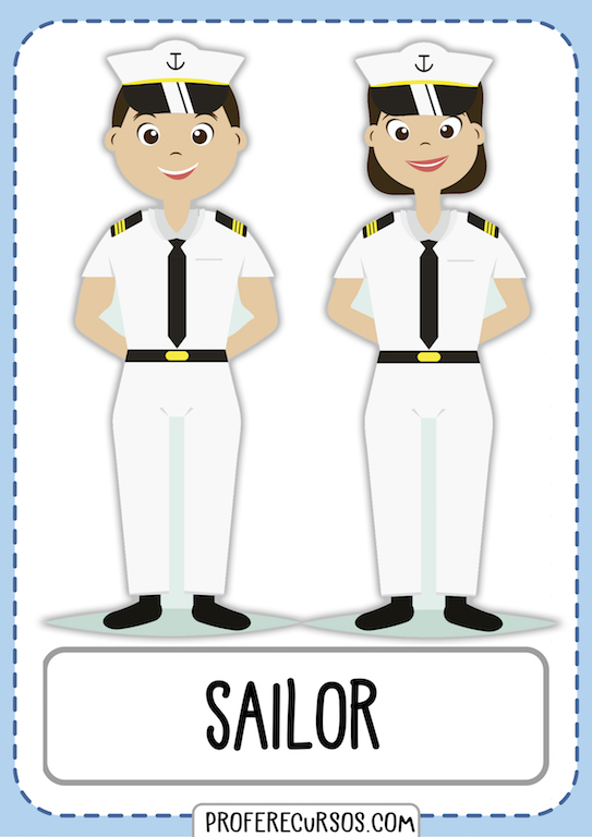 Professions Vocabulary Sailor