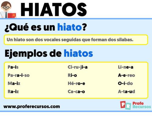 Hiatos: Definición, Tipos y Ejemplos de Hiatos