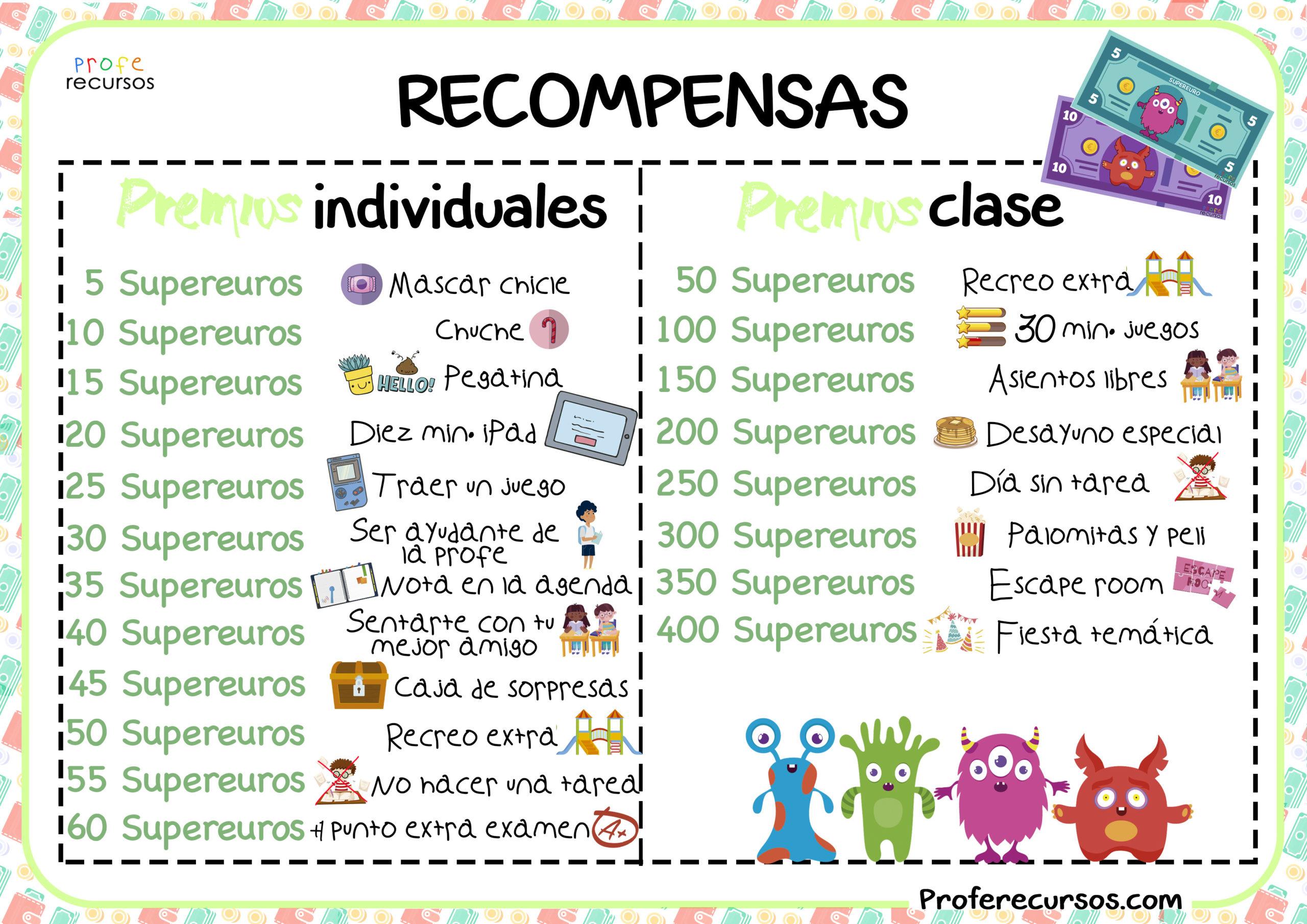 Recompensas-clase-poster