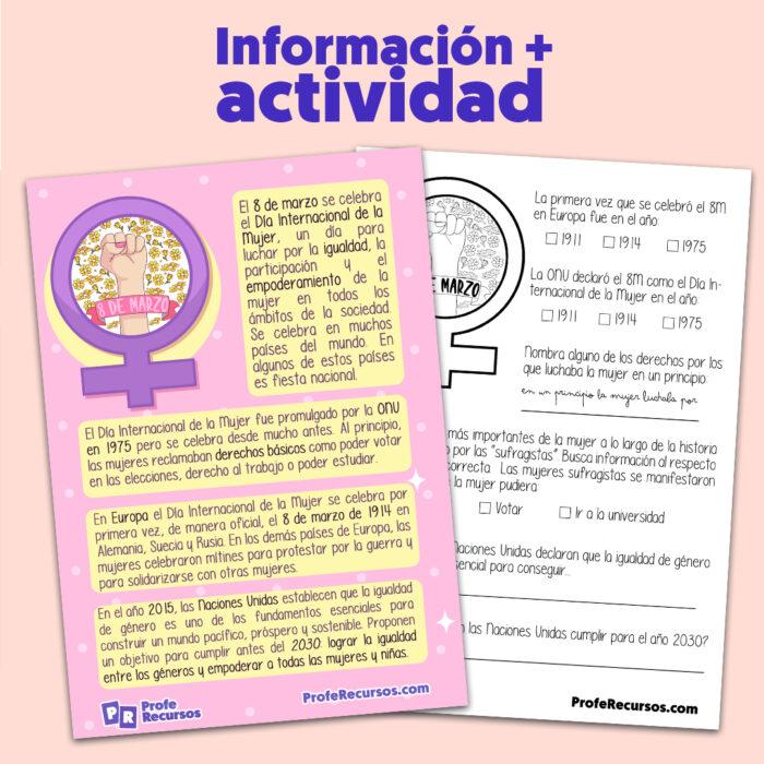 Recursos educativos dia de la mujer