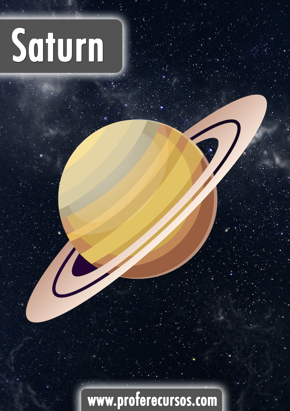 Saturn Planets Vocabulary