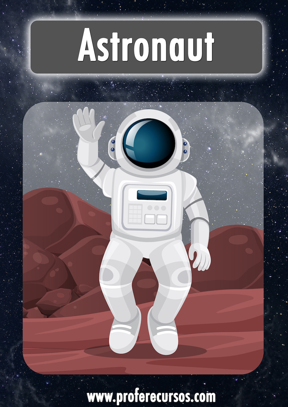 Space Astronaut Vocabulary