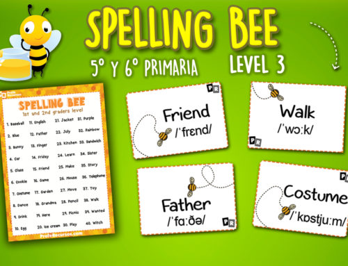 Spelling bee – List and Word Cards (5th and 6th graders)