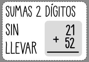 Sumas de 2 digitos sin llevar