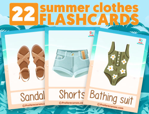 Summer Clothes Vocabulary Flashcards