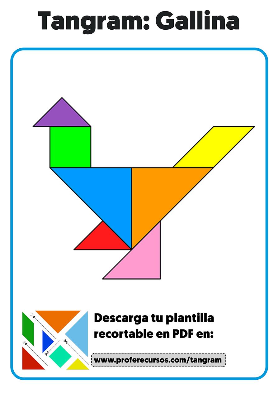 Tangram plantillas para niños