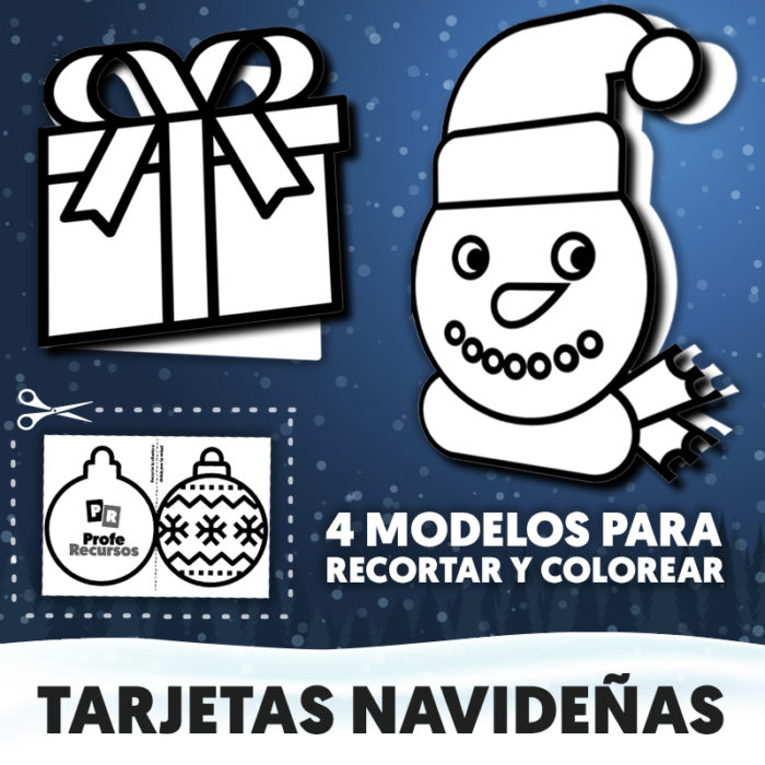 Tarjetas navideñas para niños