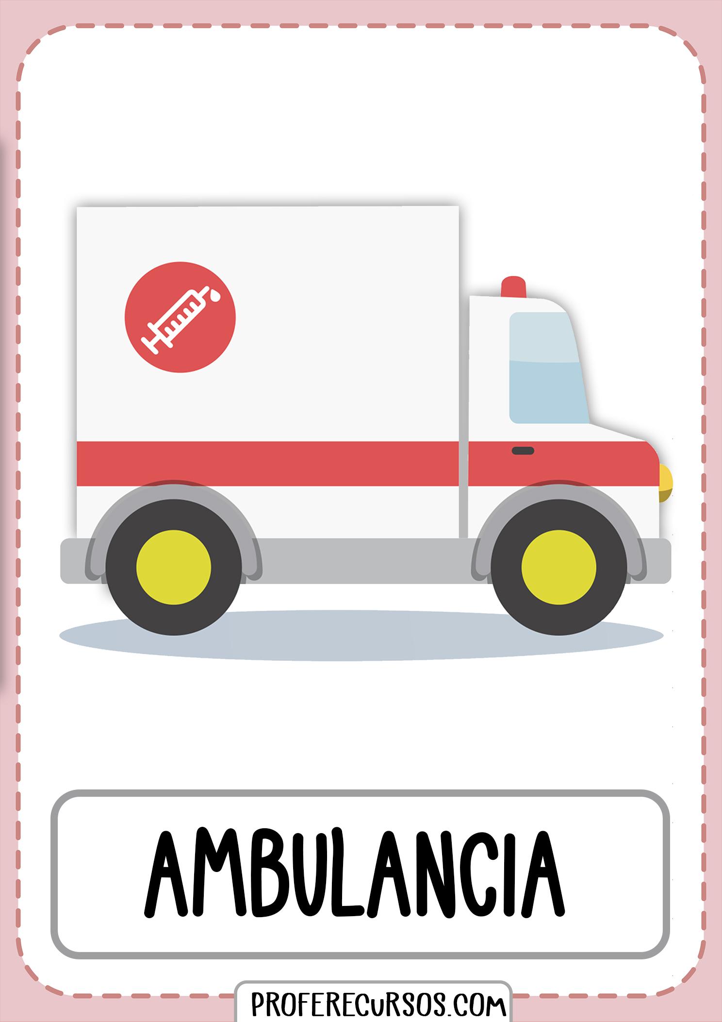 Tarjetas-vocabulario-medios-transporte-ambulancia