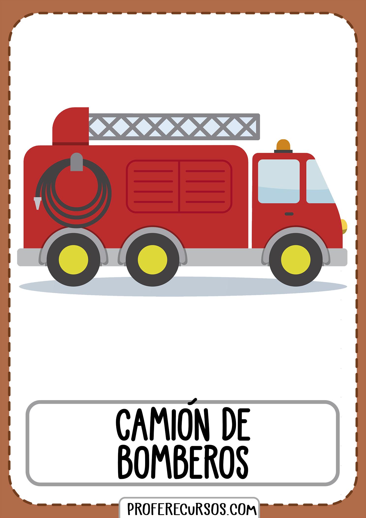 Tarjetas-vocabulario-medios-transporte-camion-bomberos