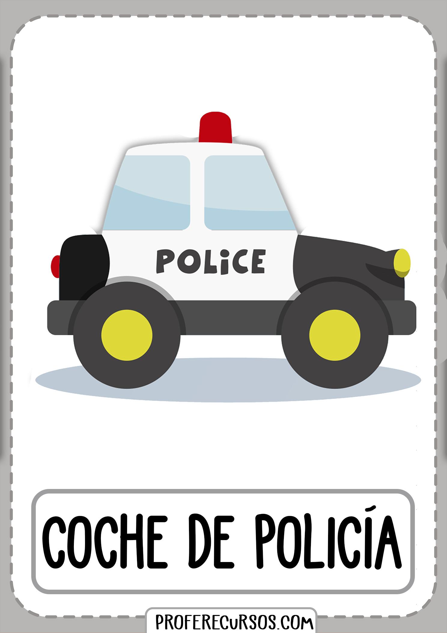 Tarjetas-vocabulario-medios-transporte-coche-de-policia