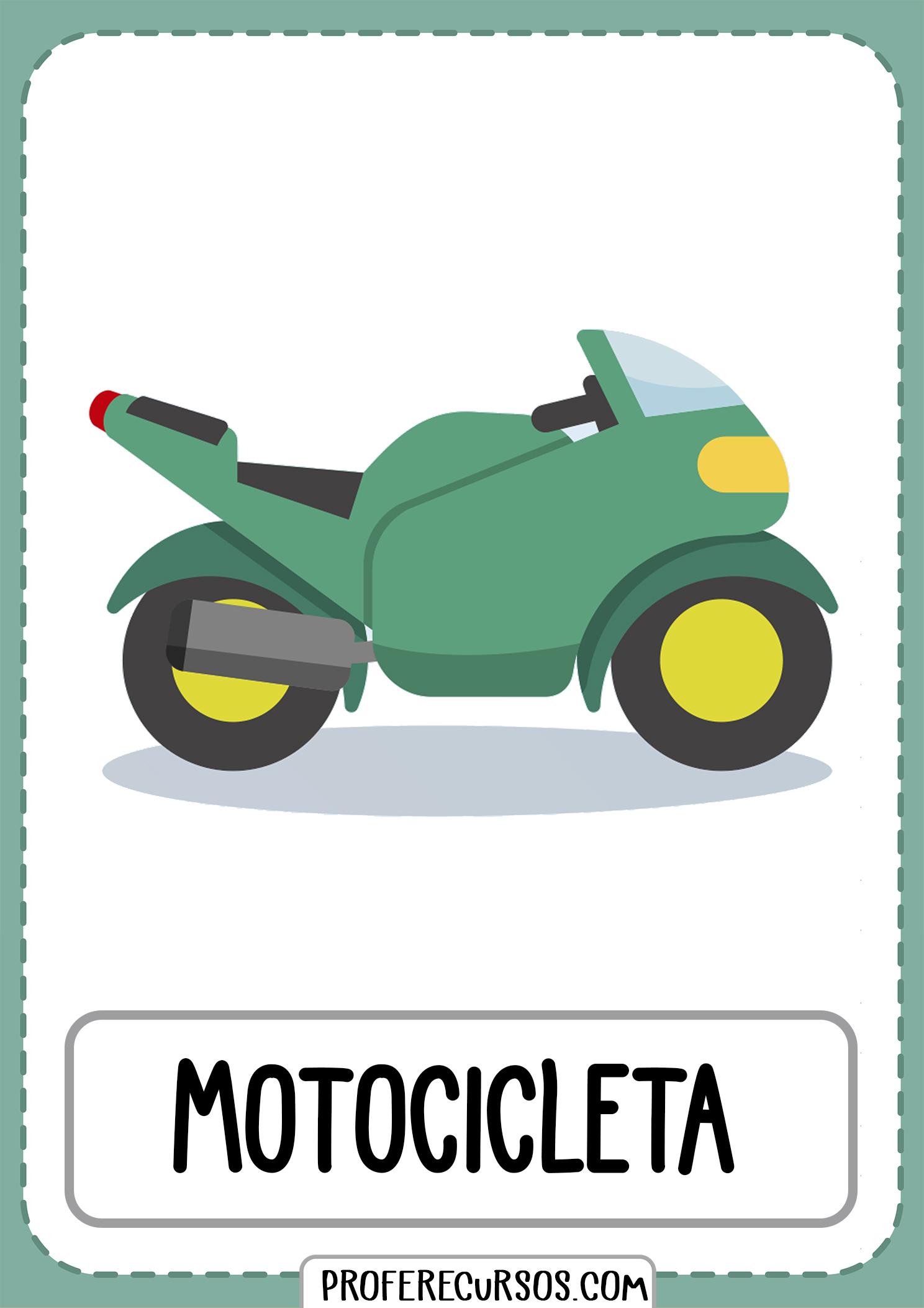 Tarjetas-vocabulario-medios-transporte-motocicleta