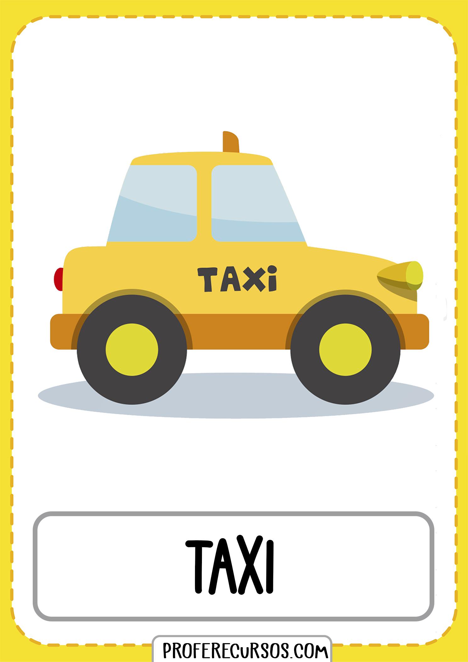 Tarjetas-vocabulario-medios-transporte-taxi