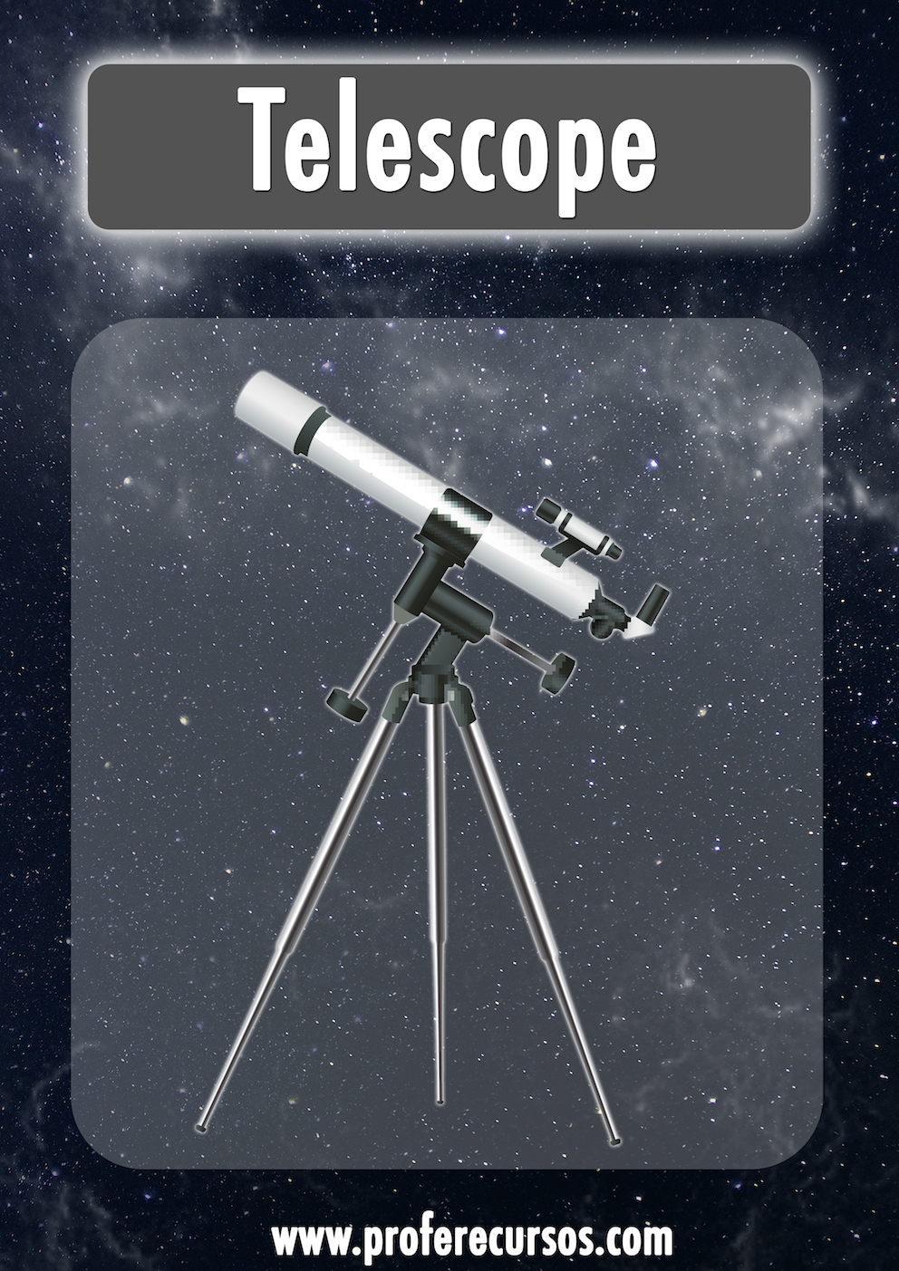 Telescope Space Vocabulary Flashcards
