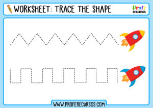 Tracing exercises for toddlers