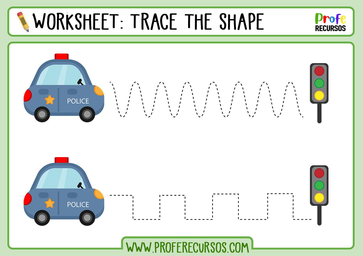 Tracing lines for preschoolers