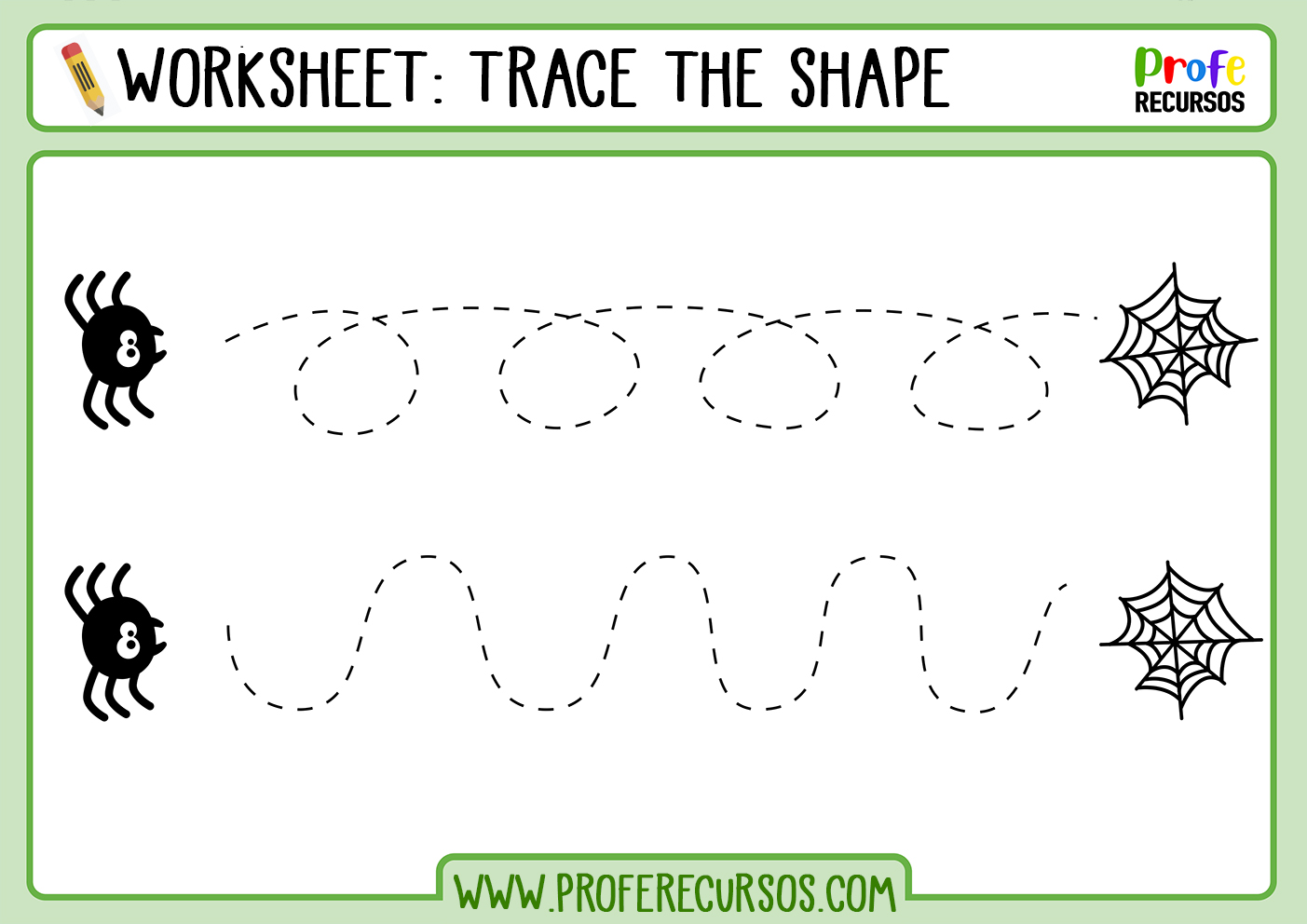Tracing shapes printable worksheets