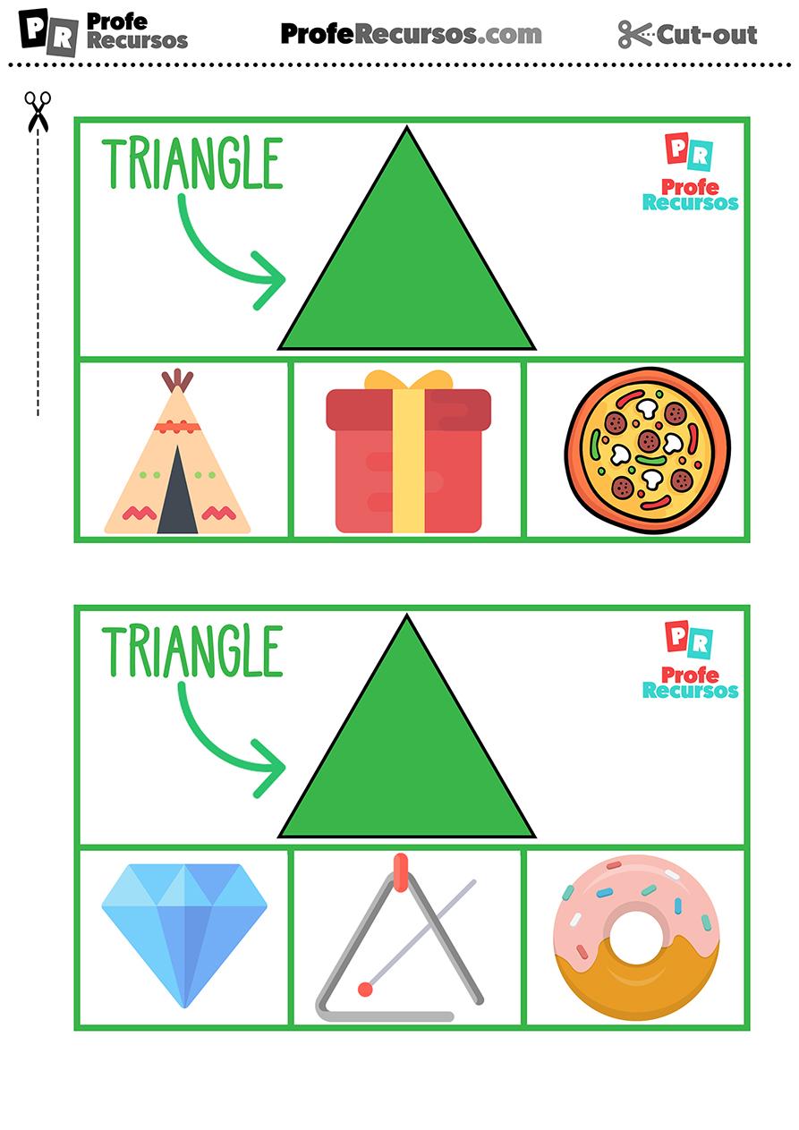 Triangulo formas geometricas en ingles
