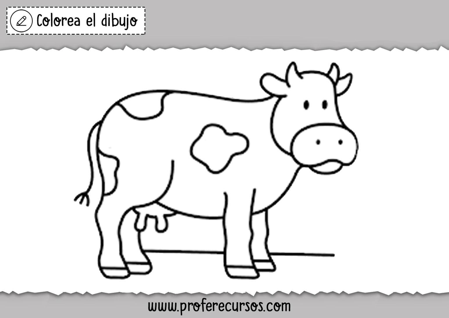 Vacas dibujos para colorear