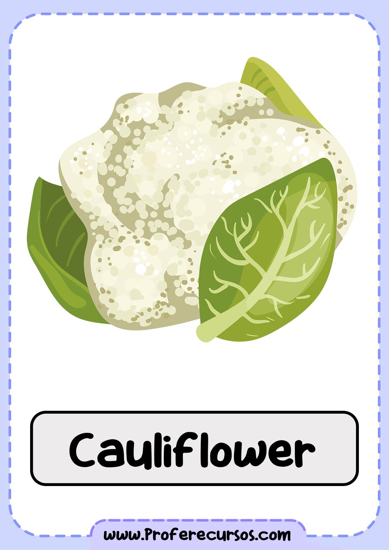 Vegetables-Vocabulary-Cauliflower