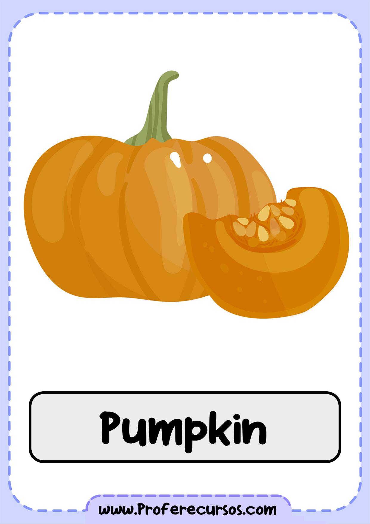 Vegetables-Vocabulary-Pumpkin