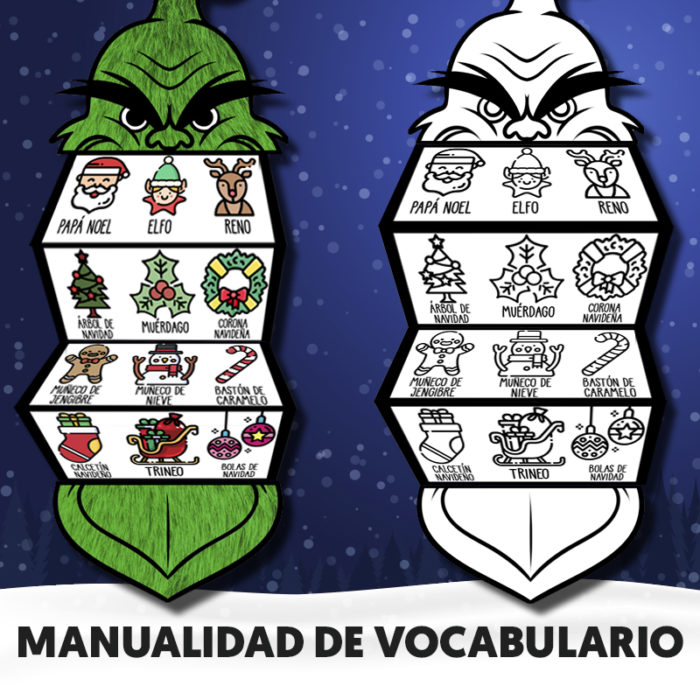 Vocabulario navideño para niños