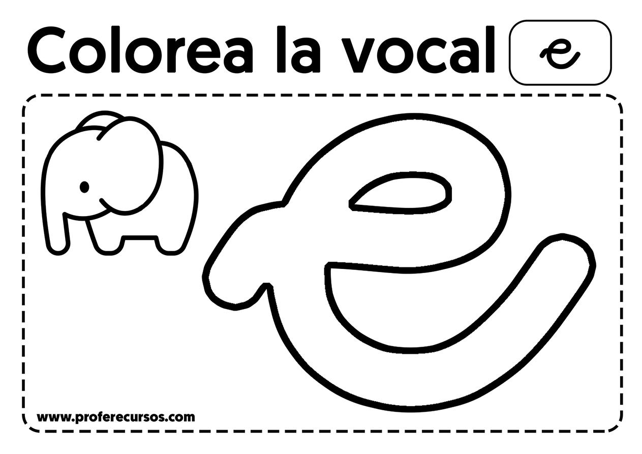 Vocal e para colorear