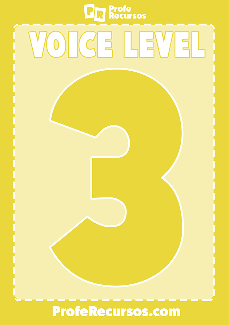 Voice levels free printable