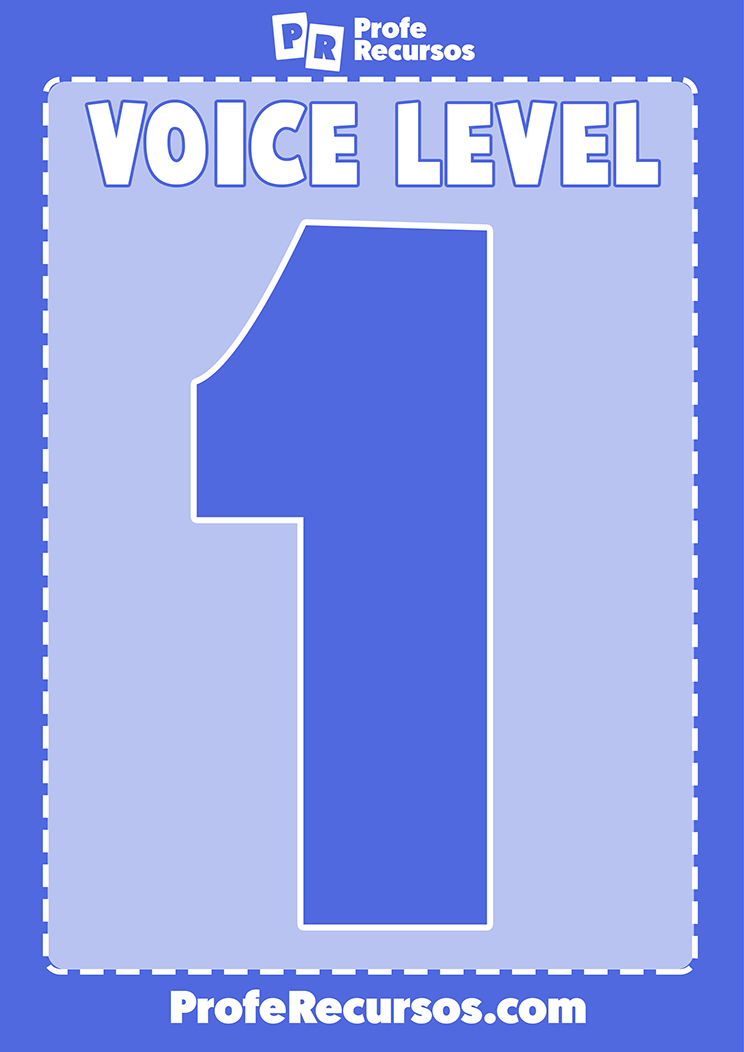 Voice levels wall chart