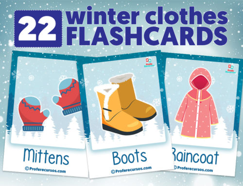 Winter Clothes Vocabulary Flashcards