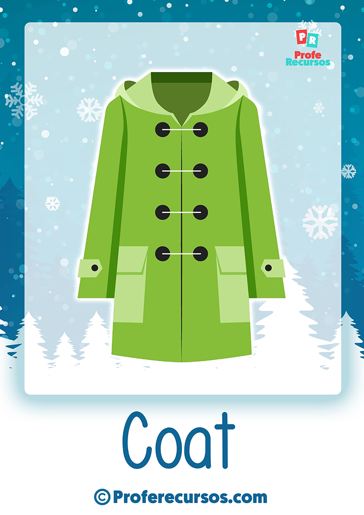 Winter clothes vocabulary for kids