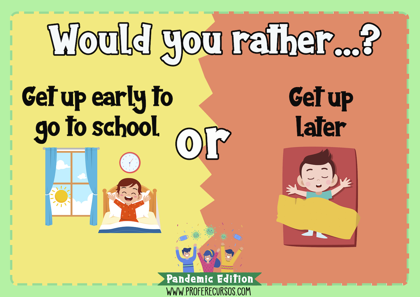 Would you rather speaking game for children