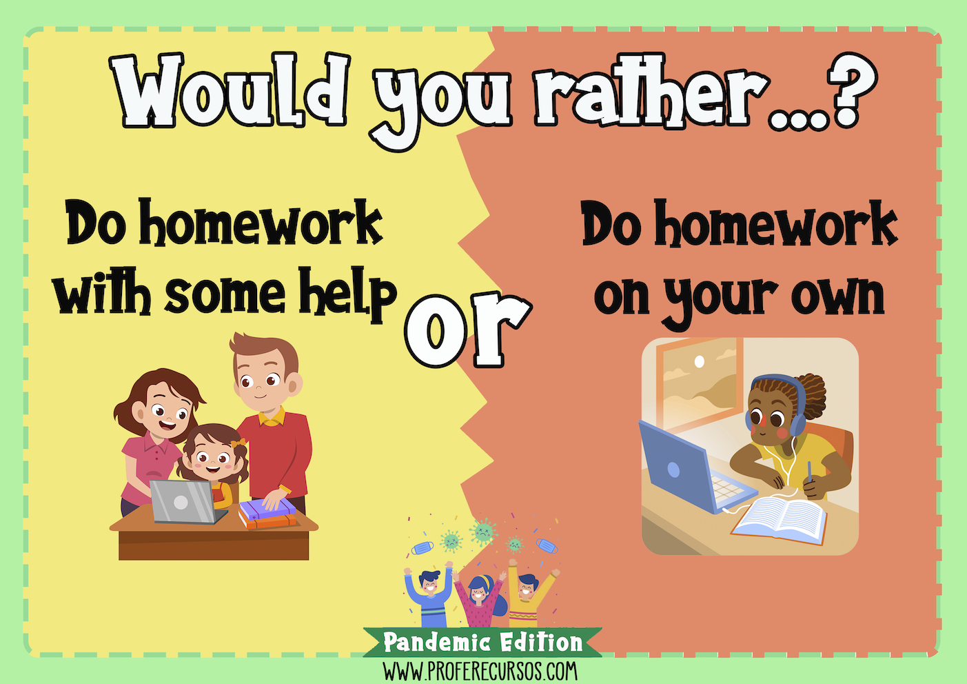 Would you rather speaking game for kids