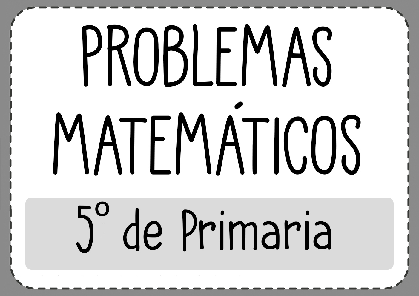 Problemas de mates 5 primaria