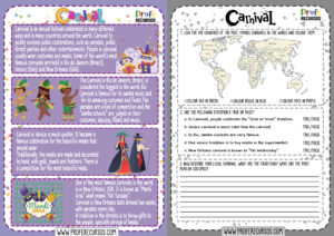 Carnival reading and activities